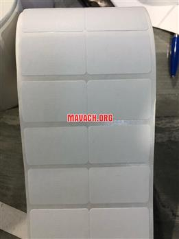 Gấy in decal 2 tem nhiệt 35x22