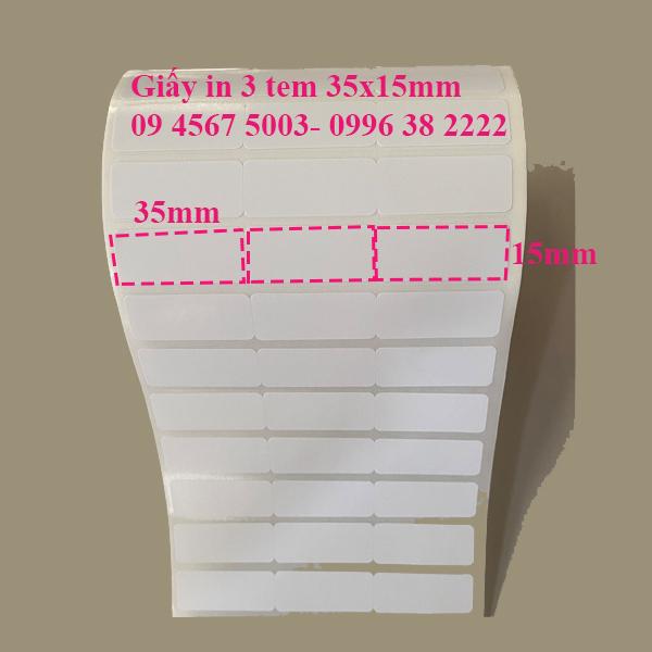 Giấy in 3 tem 35x15mm