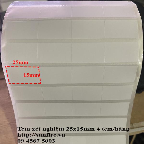 Giấy in tem xét nghiệm 25x15