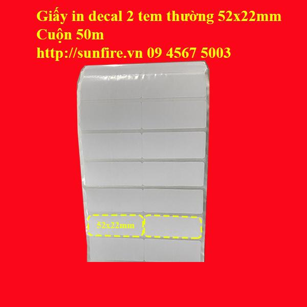decal 2 tem thường 52x22mm