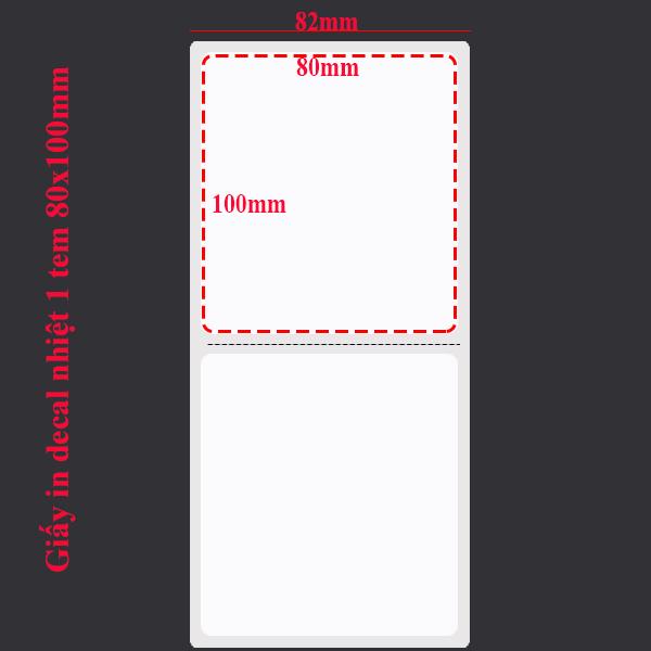 Giấy in tem nhiệt 80x100